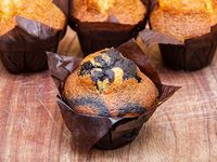 Muffin tulipa marmolado