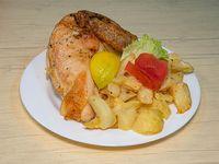 Pollo al horno con papas