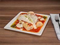 Canelones de ternera braseada, espinaca y parmesano