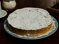 Porción de tarta de manzana