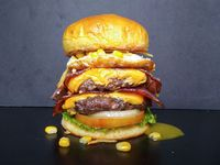 Doble pana point burger