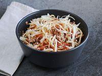Spaguetti con salsa a elección. Para calentar