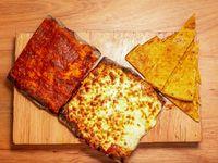 Promoción - Porción de pizza muzzarella + Porción de fainá + Porción de pizza