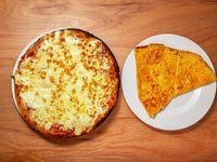Promoción - Pizzeta muzzarella (32 cm) + Porción de fainá