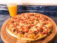 Promo - Pizza familiar + jugo 1.5 L