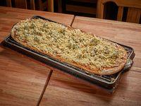 Pizza con queso roquefort