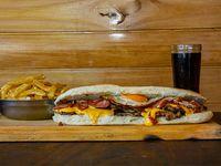 Sándwiche de Bondiola stacker full cheddar