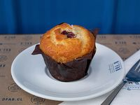 Muffin sin azúcar de vainilla y centro de frambuesa