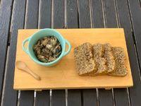 Tostadas pan masa madre - Champiñon/queso
