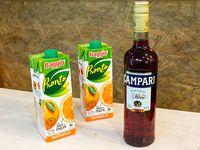 Promo 18 - Campari 1 L + 2 jugos Cepita naranja 1 L