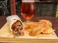 Combo Beirut - Shawarma clásico + papas rústicas + bebida o cerveza artesanal Peñón del Águila 500 ml
