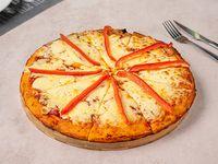 Pizzeta muzzarella con morrón