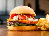 Amy  burger con guarnición
