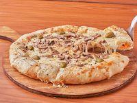Pizza con champignones y borde relleno (8 porciones)