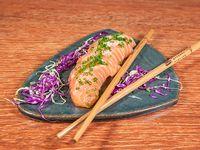 Sashimi de salmón ahumado (5 unidades)