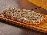 Pizza con pollo a la crema