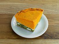Tarta de calabaza y verdura (porción)