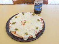Promo - Pizza muzzarella grande  + cerveza 1 L