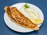 Menú - Milanesa de pescado con guarnición