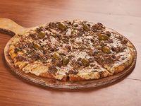 Pizzeta lomo al verdeo con borde relleno (4 porciones)