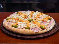Pizza de palmitos con Jamón