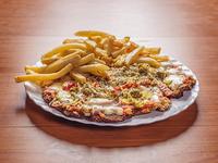 Pizzanesa especial con papas fritas