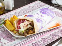 Shawarma palestino mixto