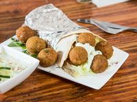 Shawarma palestino de falafel