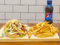 Promo - Sándwich Joropo + papas fritas + gaseosa 250 ml