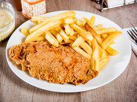 Combo 2 - Chuleta de pollo + ensalada personal + papas fritas + bebida express 250 ml