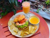 Sándwich Gaia + Bebida +chips Papa+Postre