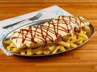 Mila 4 quesos +  papas  fritas