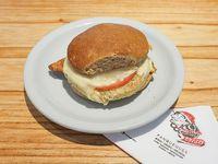 358 - Sándwich de soja con queso, tomate y cebolla