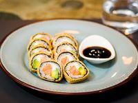 Hot salmón roll (10 piezas)