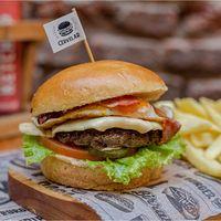Bacon lamb burger