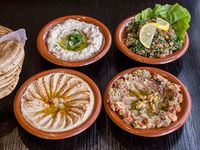 Promo 5   - 2 Falafels + Hummus o mutabal o babaganoush o tabule o labne o queso + 6 panes