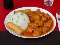Pollo piña con arroz