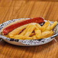 Hot dog con guarnición