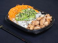 Sushi salad pollo al teriyaki