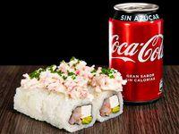 Promo - Camarón palta queso crema, cub kanikama mayo y un toque de ciboulette + bebida a eleccion
