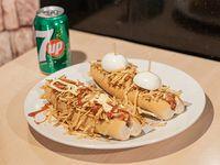 Combo 1 - 2 hot dog a elección con bebida en lata