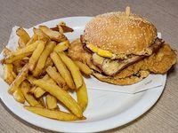 Hamburguesa de pollo completa