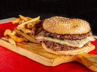 Burger con doble jamón y queso