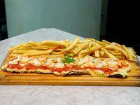Milanesa con palmitos y papas fritas (para 2 personas)