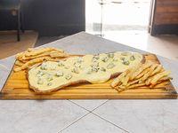 Milanesa al roquefort con papas fritas (para 2 personas)