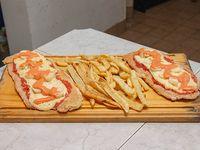Suprema y palmitos con papas fritas (para 2 personas)