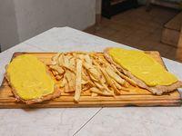 Suprema a la mostaza con papas fritas (para 2 personas)