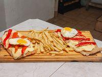 Suprema con panceta y papas fritas (para 2 personas)