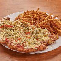 09- Pizzanesa especial con papas fritas
