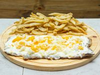 Milanesa philadelphia con papas fritas (para 2 personas)